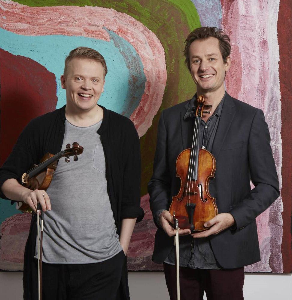 ACO image of Pekka Kuusisto and Richard Tognetti